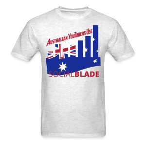 Social Blade Australian YouTube Light T-Shirt - Men's T-Shirt