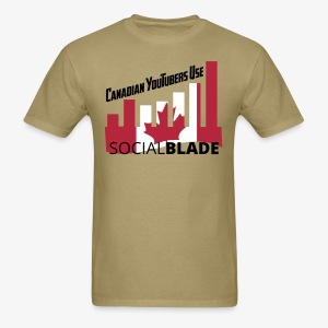 Social Blade Canadian YouTube T-Shirt - Men's T-Shirt