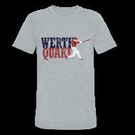 T-Shirts ~ Unisex Tri-Blend T-Shirt ~ Vintage #WERTHQUAKE - Grey Tri-Blend