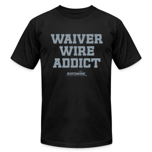 Waiver Wire Addict (Metallic Silver) - Men's T-Shirt by American Apparel