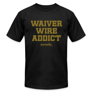 Waiver Wire Addict (Metallic Gold) - Men's T-Shirt by American Apparel