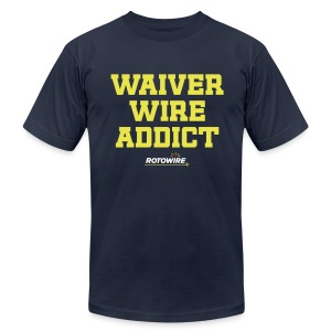 Waiver Wire Addict (RotoWire Colors) - Men's T-Shirt by American Apparel