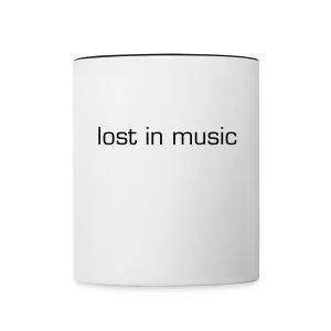 lost in music mug - Contrast Coffee Mug