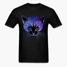 Galaxy Cat Head T-Shirts