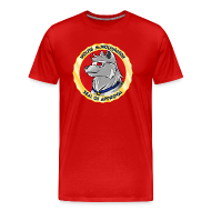 T-Shirts ~ Men's Premium T-Shirt ~ Wolfie McWolfington Seal of Approval Men's HW