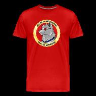 T-Shirts ~ Men's Premium T-Shirt ~ Wolfie McWolfington Seal of Approval Men's HW