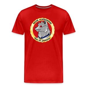 Wolfie McWolfington Seal of Approval Men's HW - Men's Premium T-Shirt