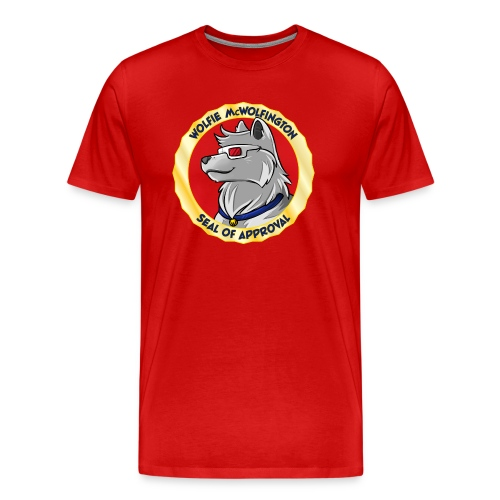 Wolfie McWolfington Seal of Approval Men's HW - Men's Premium T-Shirt