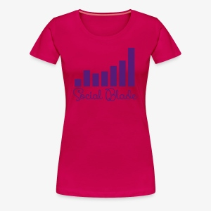 Social Blade Girly Logo Women's Shirt - Women's Premium T-Shirt