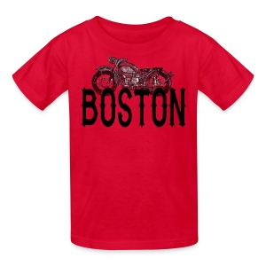 Vintage Boston Motorcycle  - Kids' T-Shirt