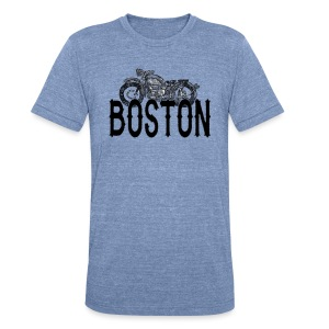 Vintage Boston Motorcycle  - Unisex Tri-Blend T-Shirt
