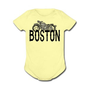 Vintage Boston Motorcycle  - Short Sleeve Baby Bodysuit