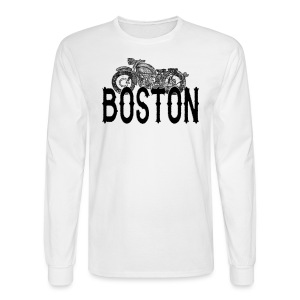 Vintage Boston Motorcycle  - Men's Long Sleeve T-Shirt
