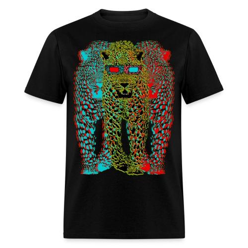 Lepard 3-D - Men's T-Shirt