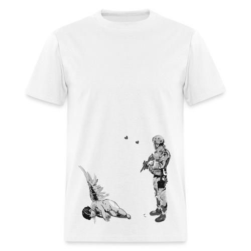 Banksy Fallen Angel - Men's T-Shirt