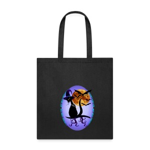 Bewitching Black Kitty Oval - Tote Bag