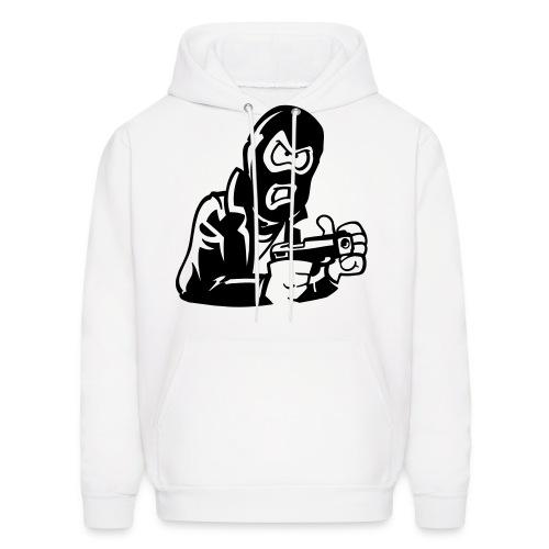 Men White GGIF Sweater - Men's Hoodie