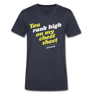 You Rank High on My Cheat Sheet - Men's V-Neck T-Shirt by Canvas