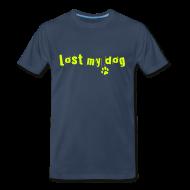 T-Shirts ~ Men's Premium T-Shirt ~ Men's Premium T - Neon Text Logo