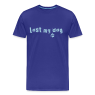 T-Shirts ~ Men's Premium T-Shirt ~ Men's Premium T - Blue Text Logo