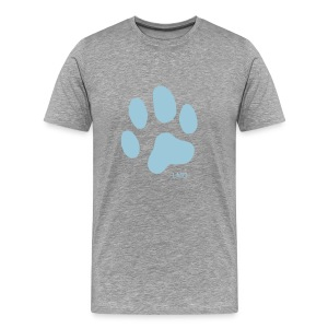 Men's Premium T - Blue Paw Print - Men's Premium T-Shirt