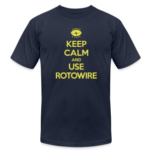Keep Calm and Use RotoWire - Men's T-Shirt by American Apparel