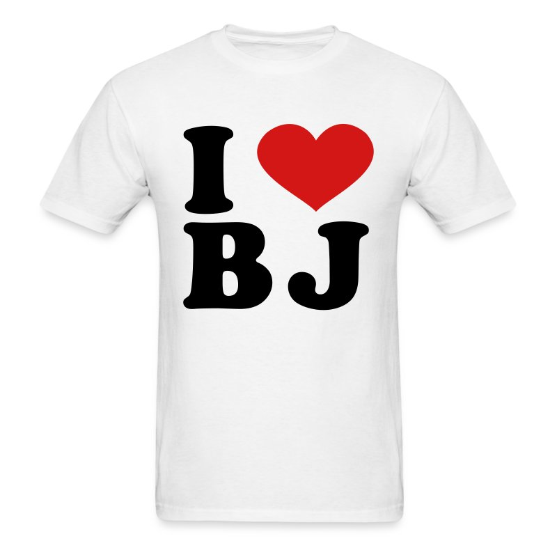 i love bj t shirt spreadshirt. Black Bedroom Furniture Sets. Home Design Ideas