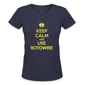 Keep Calm and Use RotoWire - Women's V-Neck T-Shirt
