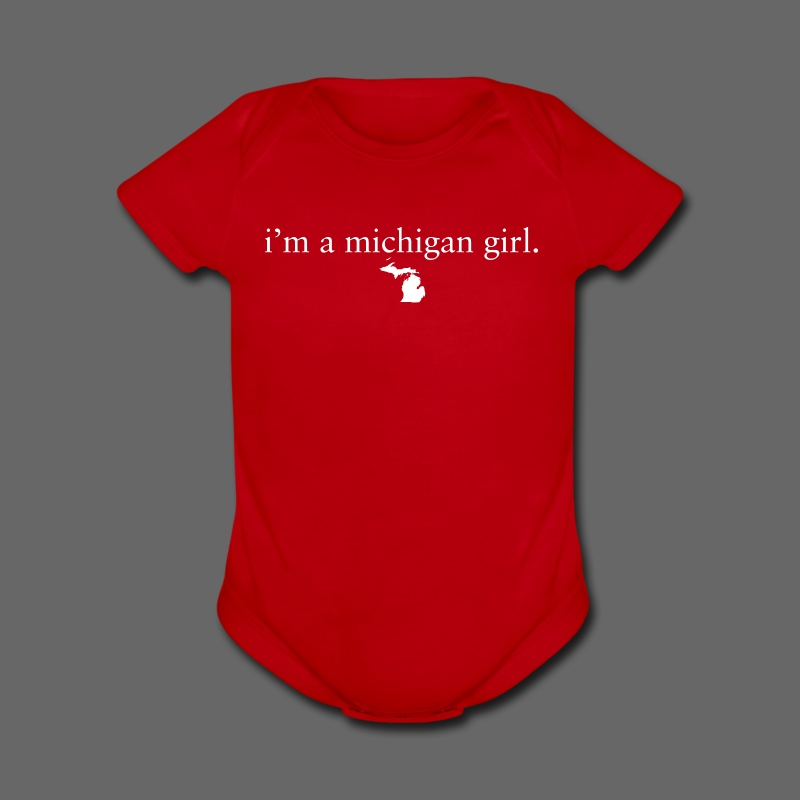 I'm a Michigan Girl - Short Sleeve Baby Bodysuit