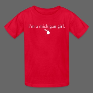 I'm a Michigan Girl - Kids' T-Shirt