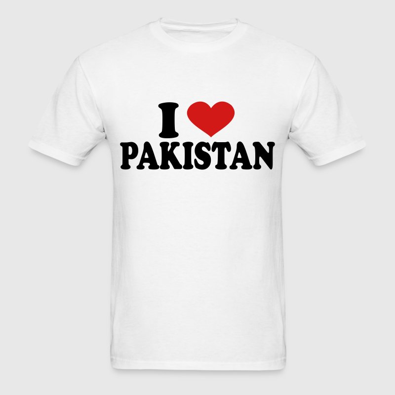 I Love pakistan T-Shirts - Men's T-Shirt