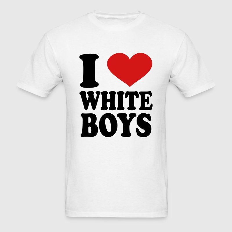 i love white boys T-Shirts - Men's T-Shirt