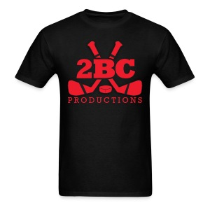 Black Shirt, Red 2BC logo - Men's T-Shirt