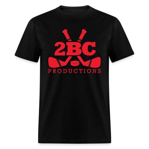 Black Shirt, Red 2BC logo - Men's T-Shirt