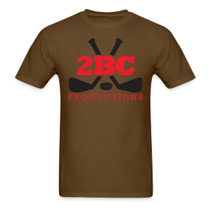 Brown Shirt, Red/Black 2BC logo - Men's T-Shirt