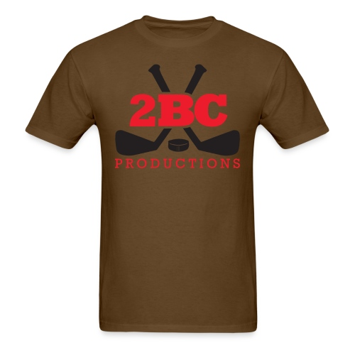 Brown Shirt, Red/Black 2BC logo - Men's T-Shirt