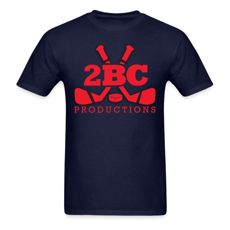 Blue Shirt, Red 2BC logo - Men's T-Shirt