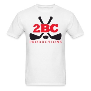 White Shirt, Red/Black 2BC logo - Men's T-Shirt