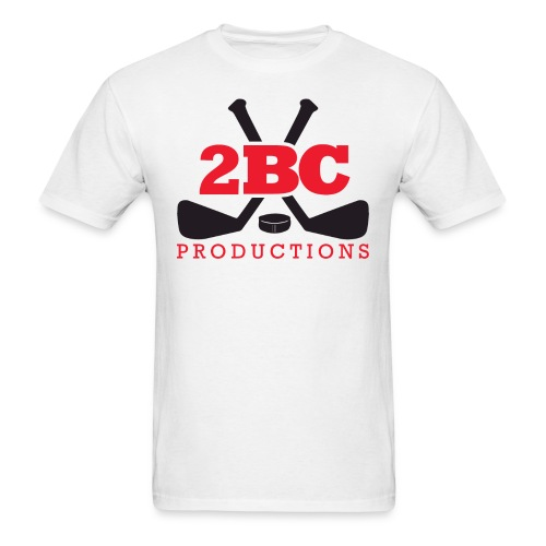 White Shirt, Red/Black 2BC logo - Men's T-Shirt