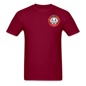Burgundy Shirt, 2BCHL logo - Men's T-Shirt