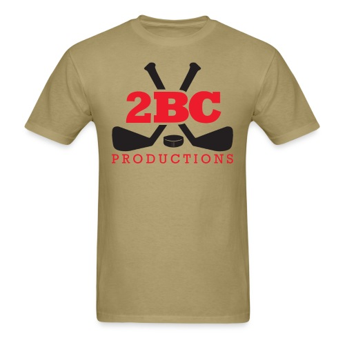 Khaki Shirt, Red/Black 2BC logo - Men's T-Shirt