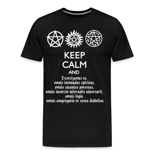 Supernatural Keep Calm T-Shirt - Men's Premium T-Shirt
