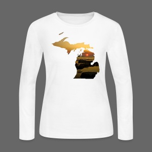 Michigan Sunset - Women's Long Sleeve Jersey T-Shirt