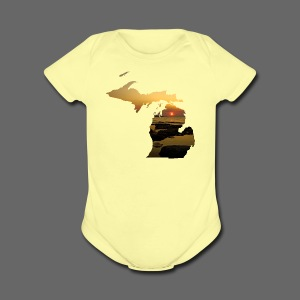 Michigan Sunset - Short Sleeve Baby Bodysuit