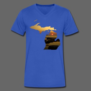 Michigan Sunset - Men's V-Neck T-Shirt by Canvas