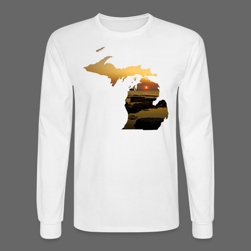 Michigan Sunset - Men's Long Sleeve T-Shirt