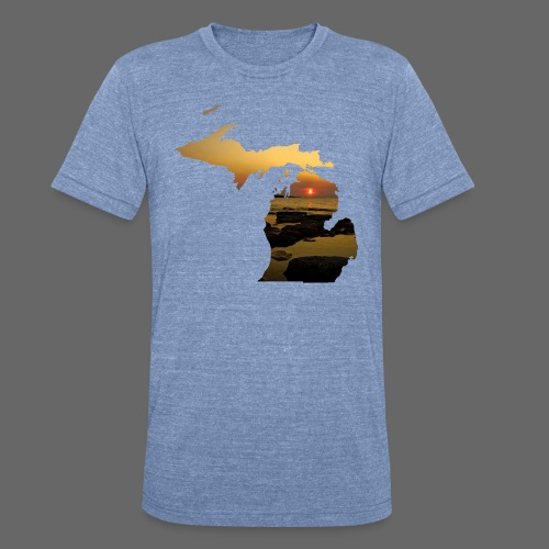 Michigan Sunset - Unisex Tri-Blend T-Shirt by American Apparel