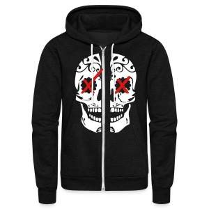 SkullxCandy [Stay Faded on back] - Unisex Fleece Zip Hoodie by American Apparel