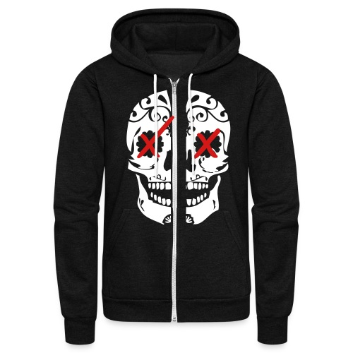 SkullxCandy [Stay Faded on back] - Unisex Fleece Zip Hoodie