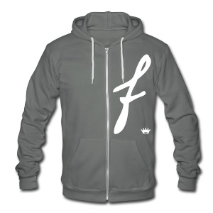 FCrown Zip [faded jet on back] - Unisex Fleece Zip Hoodie by American Apparel